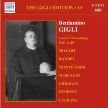 Benjamino Gigli- Edition Vol.13, CD