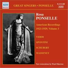 Rosa Ponselle - American Recordings Vol.3, CD