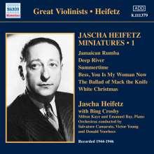 Jascha Heifetz - Miniaturen Vol.1, CD