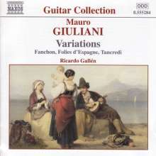 Mauro Giuliani (1781-1829): Variationen für Gitarre, CD