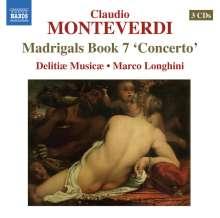Claudio Monteverdi (1567-1643): Madrigali Libro 7, 3 CDs