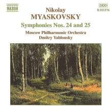 Nikolai Miaskowsky (1881-1950): Symphonien Nr.24 & 25, CD