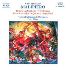 Gian Francesco Malipiero (1882-1974): Il Finto Arlecchino (Sym.Stücke), CD