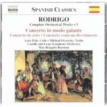 Joaquin Rodrigo (1902-1999): Orchesterwerke Vol.3, CD