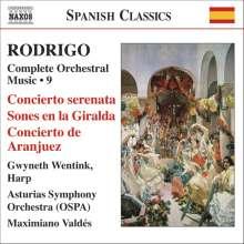 Joaquin Rodrigo (1902-1999): Orchesterwerke Vol.9, CD
