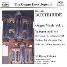 Dieterich Buxtehude (1637-1707): Orgelwerke Vol.3, CD