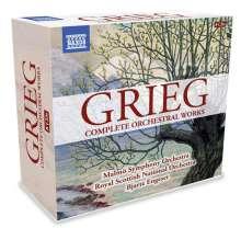 Edvard Grieg (1843-1907): Sämtliche Orchesterwerke, 8 CDs