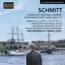 Florent Schmitt (1870-1958): Sämtliche Werke für 2 Klaviere & Klavier 4-händig Vol.3, CD