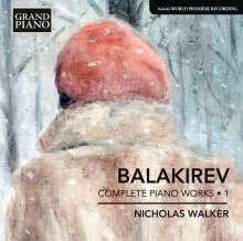 Mily Balakireff (1837-1910): Sämtliche Klavierwerke Vol.1, CD