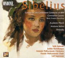Jean Sibelius (1865-1957): Cantata for the Conferment Ceremony 1894, CD