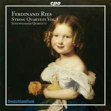 Ferdinand Ries (1784-1838): Streichquartette Vol.1, CD