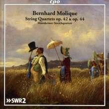Wilhelm Bernhard Molique (1802-1869): Streichquartette op.42 & 44, CD