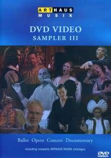 Arthaus DVD Video-Sampler Vol.3, DVD