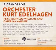 Orchester Kurt Edelhagen: Bigbands Live Feat. Mary Lou Williams And Caterina Valente, CD