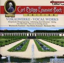 Carl Philipp Emanuel Bach (1714-1788): Carl Philipp Emanuel Bach Edition - Vokalwerke, 2 CDs