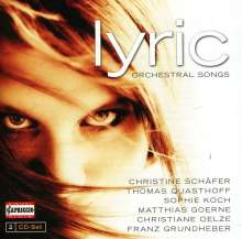 "Orchesterlieder ""Lyric"", 2 CDs"