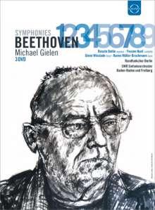 Ludwig van Beethoven (1770-1827): Symphonien Nr.1-9, 3 DVDs