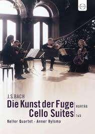 Johann Sebastian Bach (1685-1750): Die Kunst der Fuge BWV 1080 für Streichquartett, DVD