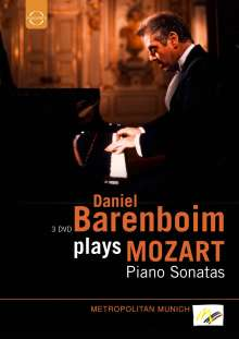 Daniel Barenboim plays Mozart, 3 DVDs