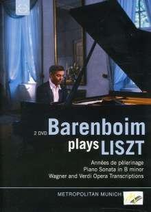 Barenboim plays Liszt, 2 DVDs