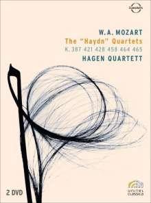 "Wolfgang Amadeus Mozart (1756-1791): Streichquartette Nr.14-19 ""Haydn-Quartette"", 2 DVDs"