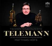 Georg Philipp Telemann (1681-1767): Trompetenkonzerte, CD