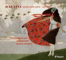 Jean Hure (1877-1930): Sonate für Violine & Klavier, CD