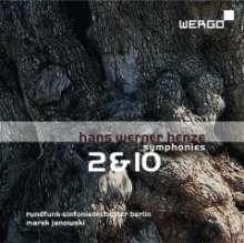 Hans Werner Henze (1926-2012): Symphonien Nr.2 & 10, CD