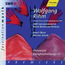Wolfgang Rihm (geb. 1952): Klangbeschreibung I-III, 2 CDs