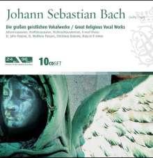 Johann Sebastian Bach (1685-1750): Die großen geistlichen Vokalwerke, 10 CDs
