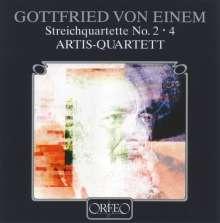 Gottfried von Einem (1918-1996): Streichquartette Nr.2 & 4, CD