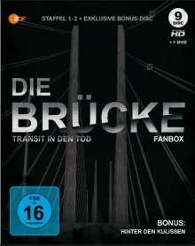 Die Brücke - Transit in den Tod Staffel 1-3 (Blu-ray & DVD), 9 Blu-ray Discs