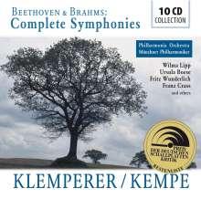 Klemperer/Kempe - Beethoven & Brahms (Complete Symphonies), 10 CDs
