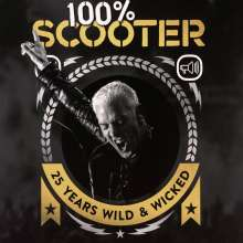 Scooter: 100% Scooter: 25 Years Wild & Wicked + Bildband (180g) (Limited-Numbered-Deluxe-Box), 5 CDs