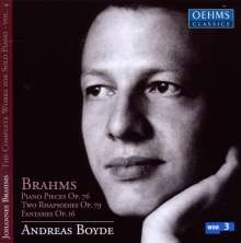 Johannes Brahms (1833-1897): Klavierstücke opp.76,79,116, CD