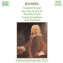 Georg Friedrich Händel (1685-1759): Concerti grossi op.6 Nr.8,10,12, CD