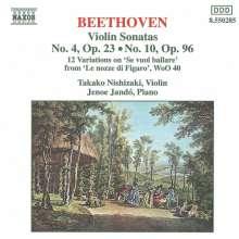 Ludwig van Beethoven (1770-1827): Violinsonaten Nr.4 & 10, CD