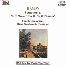 Joseph Haydn (1732-1809): Symphonien Nr.44,88,104, CD