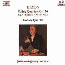 Joseph Haydn (1732-1809): Streichquartette Nr.78-80 (op.76 Nr.4-6), CD