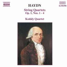 Joseph Haydn (1732-1809): Streichquartette Nr.1-4 (op.1 Nr.1-4), CD