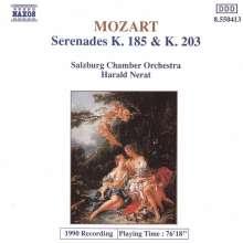 Wolfgang Amadeus Mozart (1756-1791): Serenaden Nr.3 & 4 (KV 185 & 203), CD