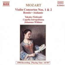 Wolfgang Amadeus Mozart (1756-1791): Violinkonzerte Nr.1 & 2, CD
