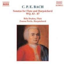 Carl Philipp Emanuel Bach (1714-1788): Flötensonaten Wq.83-87, CD