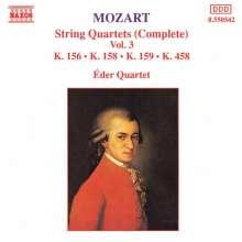 Wolfgang Amadeus Mozart (1756-1791): Streichquartette Nr.3,5,6,17, CD