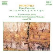 Serge Prokofieff (1891-1953): Klavierkonzerte Nr.1,3,4, CD