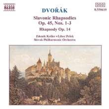 Antonin Dvorak (1841-1904): Slawische Rhapsodien op.45 Nr.1-3, CD