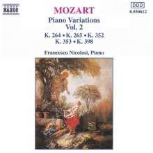 Wolfgang Amadeus Mozart (1756-1791): Variationen f.Klavier Vol.2, CD