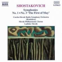 Dimitri Schostakowitsch (1906-1975): Symphonien Nr.1 & 3, CD