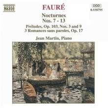 Gabriel Faure (1845-1924): Nocturnes Nr.7-13, CD