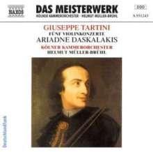 Giuseppe Tartini (1692-1770): Violinkonzerte D.28,50,80,96,125, CD